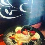 Maple berry pancakes