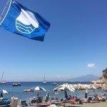 """La plage """"Bandiera Blu"""" (très propre) de Puolo à 15 minutes à pied, très sympatique et populaire"""