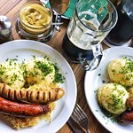 sausages mash and sauerkraut