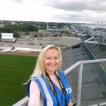 Me above the stadium on the Skyline Tour