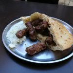 Cevapi with traditioanl bred and onion