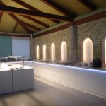 Sun Hotel/Kivotos Taverna buffet area fo rhotel breakfasts and excursion meals