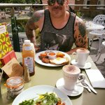 Amazing mochas, best poached eggs and a healthy, yummy Grupo breakfast in the sunshine!
