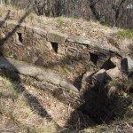 Particolare dei trinceramenti, Cuasso al Monte, Linea Cadorna.