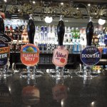 A good range of real ales, this is just a few of those on offer.