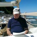 John reading the menu