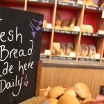 Fresh bread, cakes and biscuits made daily in the onsite scratch bakery