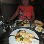 Sea bass and duck main courses