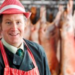 In-store expert butchers selling meat reared on the Estate