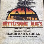 cover page for menu at Rattlesnake Jake's