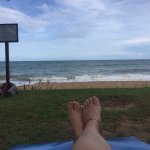 Take time with sunbed in front of the beach
