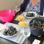 Our meal.......the frites were excellant, and the moules even better.