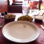 Matter paneer with vegetable rice and raita