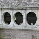 The old steam room porthole windows.