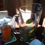 Pitcher of Lemon Mint Iced Tea