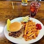 hand pulled pork bbq sandwich