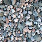 Pretty beach rocks