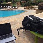 Working around the pool