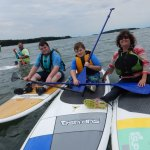 Taking a break while SUP'ng on Casco Bay