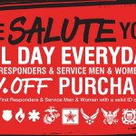 We are proud to offer all first responders, military and retired military a 10% discount every d