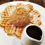 Waffle with Hazelnut ice cream