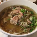 Pho with beef.