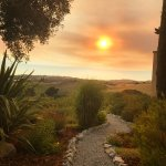 The Pathway from Our Villa to Watch Another Amazing Sunset