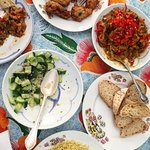 Delicious homemade lunch at the Beit Sabee guesthouse in Luxor