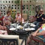 Concert Party Guests relaxing at Willow End
