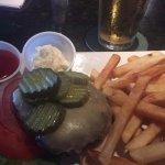 Big bun-less burger & fries--- $5