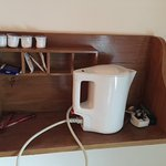 The in-room tea-making facilities (fully stocked!)