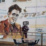George Orwell wall illustartion
