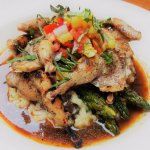 Grilled Texas Bobwhite Quail with mushroom risotto