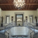 Main staircase at the entrance of the castle