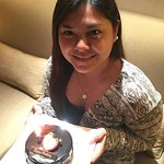 Happy Birthday to me! Thank you for my yummy cake, Makati Shangri-La!
