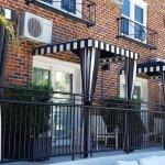 Balconies of poolside rooms