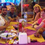 With friends at Special Restaurant, Kusadasi.