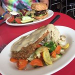 Black Bean Burger and Country Fried Steak