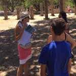 Niki made sure we were in the shade as she shared details about the ancient games.