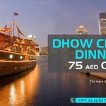 Dhow cruise at AED 75 Only