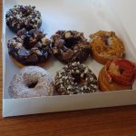 Ande's, Reese's, Bacon, butterfinger, and french toast donuts