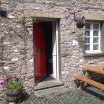 Front door to room