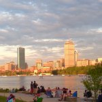 View of Boston from south side of hotel. July 4th.