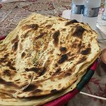 Naan bread. Flaky and buttery.