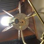 Broken lamp and fire hazard