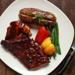 Chicken & Rib Platter Classic
