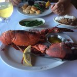 2 pound lobster, baked potato and green beans
