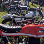 Motorcycles for sale at AMA Vintage Motorcycle Days. Bring money!