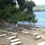 Private beach area.