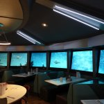 A Peek Inside / The Flying Saucer Restaurant.